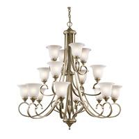 Kichler 43192SGD Monroe 16 Light 45 inch Sterling Gold Chandelier Multi Tier Ceiling Light