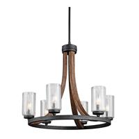 Kichler 43193AUB Grand Bank 6 Light 25 inch Auburn Stain Chandelier 1 Tier Medium Ceiling Light