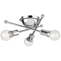 Armstrong 3 Light 15 inch Chrome Flush Mount Ceiling Light