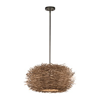 Kichler Lighting Twigs 1 Light Pendant in Olde Bronze 43203OZ
