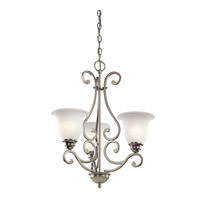 Kichler 43223NI Camerena 3 Light 20 inch Brushed Nickel Chandelier Ceiling Light