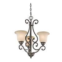 Kichler 43223OZ Camerena 3 Light 20 inch Olde Bronze Chandelier Ceiling Light