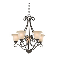 Kichler 43224OZ Camerena 5 Light 27 inch Olde Bronze Chandelier Ceiling Light