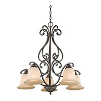 Kichler 43225OZ Camerena 5 Light 27 inch Olde Bronze Chandelier Ceiling Light