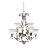 Camerena 9 Light 30 inch Brushed Nickel Chandelier Ceiling Light