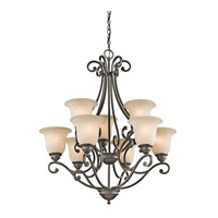 Kichler Lighting Builder Camerena 9 Light Chandelier in Olde Bronze 43226OZ