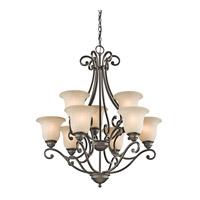 Kichler 43226OZ Camerena 9 Light 30 inch Olde Bronze Chandelier Ceiling Light
