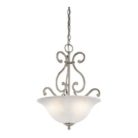 Kichler Lighting Camerena 3 Light Inverted Small Pendant in Brushed Nickel 43227NI photo thumbnail