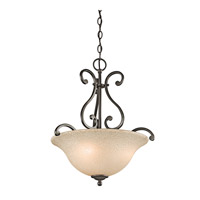 Kichler 43227OZ Camerena 3 Light 18 inch Olde Bronze Inverted Pendant Ceiling Light