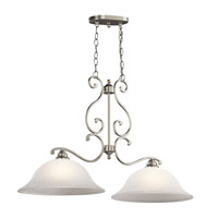 Kichler Lighting Camerena 2 Light Island Chandelier in Brushed Nickel 43231NI