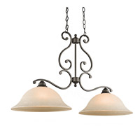 Kichler Lighting Builder Camerena 2 Light Island Pendant in Olde Bronze 43231OZ photo thumbnail