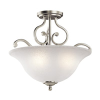 Kichler 43232NI Camerena 3 Light 18 inch Brushed Nickel Semi-Flush Ceiling Light