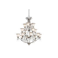 Kichler 43234NI Camerena 16 Light 45 inch Brushed Nickel Chandelier Ceiling Light