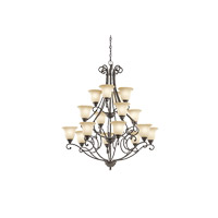 Kichler 43234OZ Camerena 16 Light 45 inch Olde Bronze Chandelier Ceiling Light