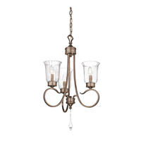 Malina 3 Light 19 inch Brushed Silver and Gold Mini Chandelier Ceiling Light