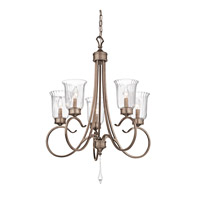 Kichler Lighting Malina 5 Light Chandelier in Brushed Silver and Gold 43238BRSG photo thumbnail