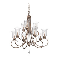 Kichler Lighting Malina 9 Light Chandelier in Brushed Silver and Gold 43240BRSG photo thumbnail