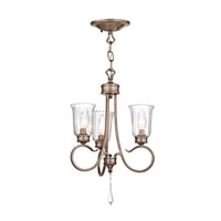 Kichler Lighting Malina 3 Light Convertible Semi Flush Chandelier in Brushed Silver and Gold 43242BRSG