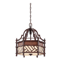 Kichler Lighting Rum Cove 3 Light Pendant in Cayman Bronze 43248CYZ photo thumbnail