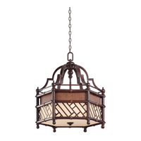 Kichler 43249CYZ Rum Cove 3 Light 25 inch Cayman Bronze Pendant Ceiling Light