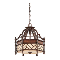 Kichler Lighting Rum Cove 3 Light Convertible Pendant in Cayman Bronze 43250CYZ photo thumbnail