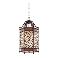 Kichler Lighting Rum Cove 6 Light Foyer Chandelier in Cayman Bronze 43252CYZ