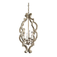 Hayman Bay 4 Light 16 inch Distressed Antique White Foyer Chandelier Ceiling Light