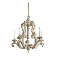 Hayman Bay 5 Light 28 inch Distressed Antique White Chandelier Ceiling Light