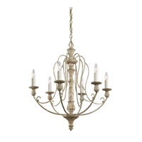 Kichler 43257DAW Hayman Bay 6 Light 27 inch Distressed Antique White Chandelier Ceiling Light
