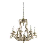 Kichler Hayman Bay 8 Light Chandelier in Distressed Antique White 43265DAW