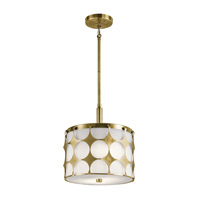 Charles 2 Light 12 inch Natural Brass Pendant Ceiling Light