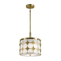 Kichler 43275NBR Charles 2 Light 12 inch Natural Brass Pendant Ceiling Light