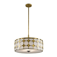 Kichler Charles 4 Light Pendant in Natural Brass 43276NBR