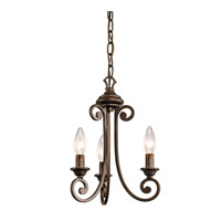 Kichler Lighting Mithras 3 Light Convertible Semi Flush Chandelier in Terrene Bronze 43277TRZ