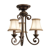 Kichler Lighting Mithras 3 Light Convertible Semi Flush Chandelier in Terrene Bronze 43277TRZ alternative photo thumbnail