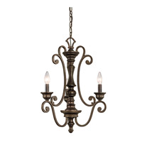 Kichler Lighting Mithras 3 Light Convertible Semi Flush Chandelier in Terrene Bronze 43278TRZ photo thumbnail