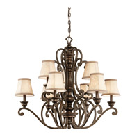 Kichler Lighting Mithras 9 Light Chandelier in Terrene Bronze 43280TRZ