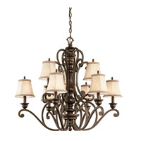 Kichler Lighting Mithras 9 Light Chandelier in Terrene Bronze 43280TRZ alternative photo thumbnail