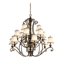 Kichler Lighting Mithras 15 Light Chandelier in Terrene Bronze 43281TRZ