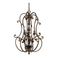 Kichler Lighting Mithras 6 Light Foyer Chandelier in Terrene Bronze 43282TRZ