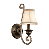 Kichler Lighting Mithras 1 Light Wall Bracket (Shade Sold Separately) in Terrene Bronze 43284TRZ