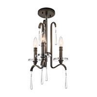 Kichler Lighting Tara 3 Light Mini Chandelier in Olde Bronze 43286OZ photo thumbnail