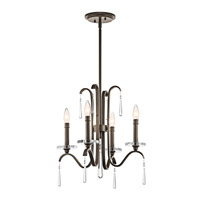 Kichler 43287OZ Tara 4 Light 18 inch Olde Bronze Chandelier Ceiling Light