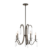 Kichler 43288OZ Tara 5 Light 26 inch Olde Bronze Chandelier Ceiling Light