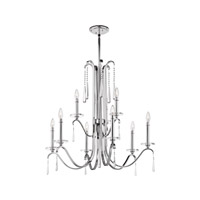 Kichler 43289CH Tara 9 Light 32 inch Chrome Chandelier Ceiling Light