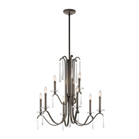 Kichler 43289OZ Tara 9 Light 32 inch Olde Bronze Chandelier Ceiling Light