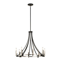 Bensimone 8 Light 30 inch Black Chandelier Ceiling Light, Large