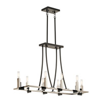 Kichler 43292BK Bensimone 8 Light 14 inch Black Chandelier Ceiling Light