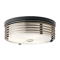 Kichler 43293BK Bensimone 2 Light 15 inch Black Flush Mount Ceiling Light