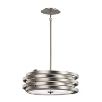 Kichler 43301NI Roswell 3 Light 19 inch Brushed Nickel Pendant Ceiling Light